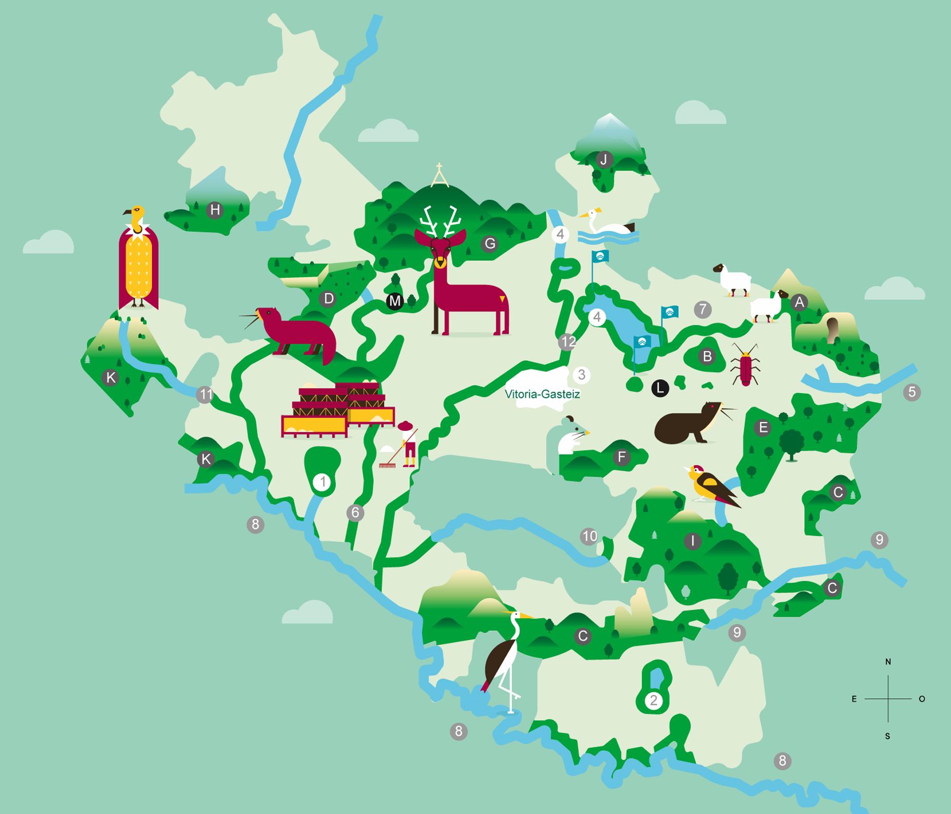 Mapa Red Natura 2000 Álava