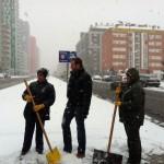 Maroto, en una nevada de 2012