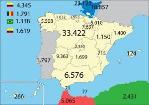 Origen de los residentes en Álava. Fuente: INE