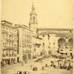 Autor anonimo. Hacia 1867. Plaza de la Virgen Blanca