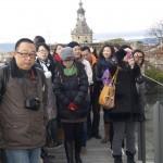 Turistas chinos en Vitoria
