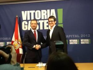 Maroto y Urtaran, en la presentación del Presupuestos 2013