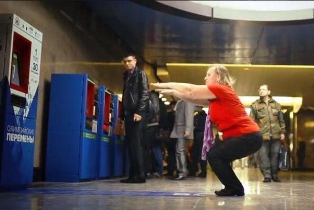 Una máquina de metro de Moscú acepta 30 sentadillas como forma de pago.