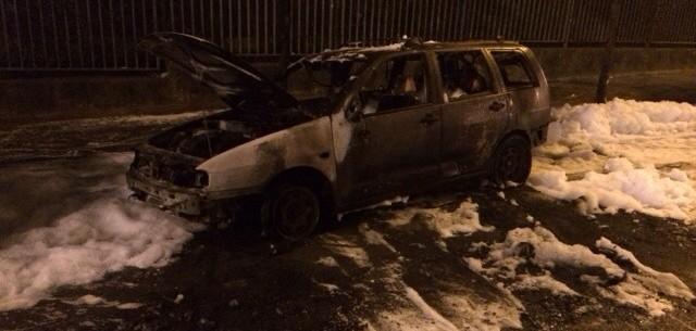 Incendio de un coche en Aranalde