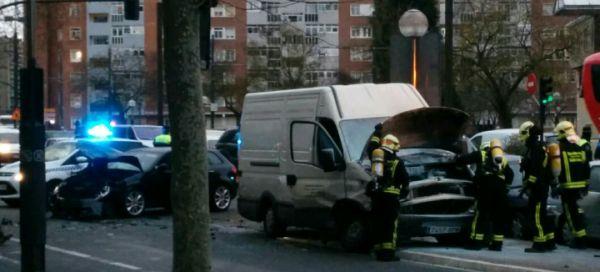 Accidente en Plaza de la Constitución
