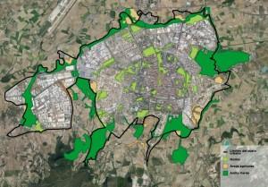 Mapa de infraestructuras verdes de Vitoria