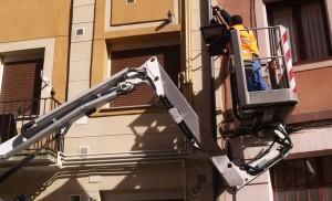 Inicio del cambio de la iluminación en el Casco Viejo
