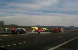 Accidente de este viernes en Armiñón (@cyralava)