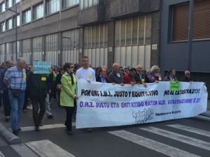 Manifestación por la bajada del IBI convocada en 2014