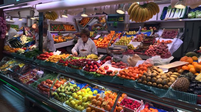 fruta plaza de abastos