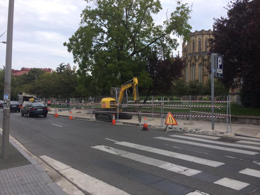 Comienzan las obras del nuevo bidegorri frente a Marianistas
