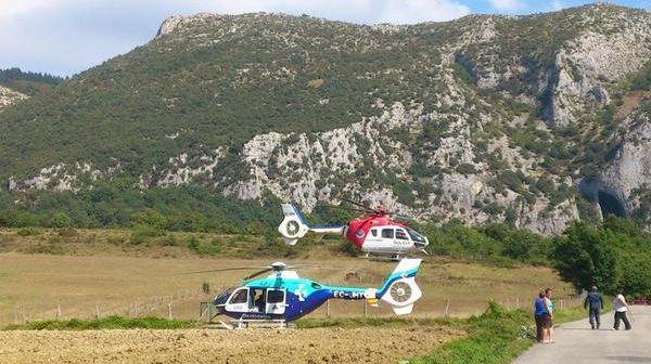 Rescate en La Lece. Foto: @gorka581