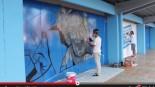 VÍDEO: Elaboración del gran graffiti de Mendizorrotza