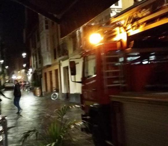 Incendio en la Pinto. Foto: I. Bastida