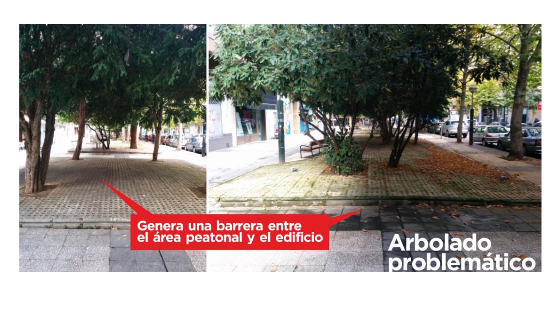 Calle Pedro Orbea. Denuncia de 2014
