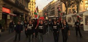 ECN traslada sus movilizaciones a Barcelona