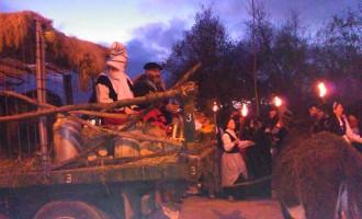 FOTOS: Olentzero llega a Zabalgana