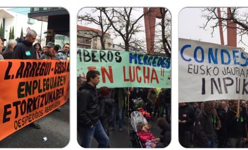 Los trabajadores de empresas en ERE demuestran en la calle que la crisis aún no ha terminado