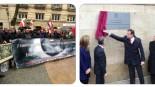 Rajoy descubre entre gritos la placa del Memorial de las Víctimas