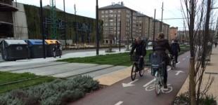Más de 2.000 ciclistas circulan a diario en Invierno por la Avenida Gasteiz