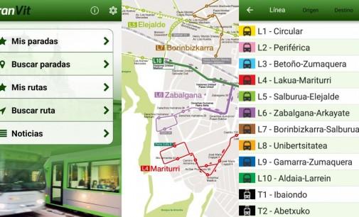 La app TranVit incorpora los horarios de paradas en tiempo real