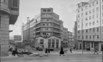 La torre de Doña Ochanda y la Plaza de Aldabe en los años 60