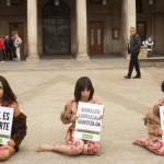 Protesta Anima Naturalis por el uso de pieles