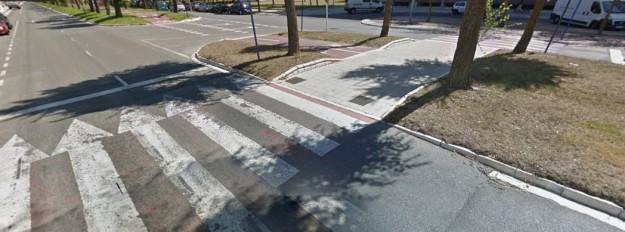 Lugar en el que se ha producido el atropello (Foto Google Maps 2014)