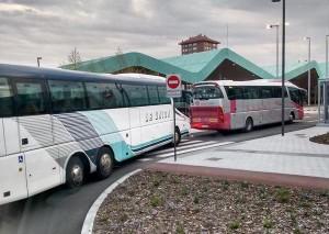 Barrera de la Estación de Autobuses de Vitoria (vía @Sariitxu)
