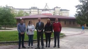 Maroto, junto a varios de sus concejales en un acto en Sansomendi
