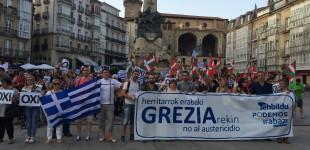 Protestas contra la Ley Mordaza y en apoyo a Grecia