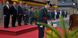 El ministro de Interior preside en Sansomendi la toma de posesión del nuevo jefe en Euskadi de la Guardia Civil