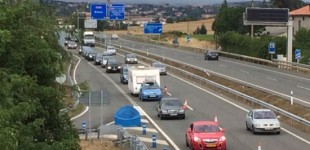 Álava y Gipuzkoa vuelven a engañar a miles de conductores europeos en la operación Salida
