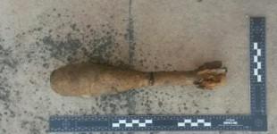 Unos bañistas encuentran una granada de la Guerra Civil en Gamarra