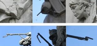 Una campaña pide la restauración del monumento a la Batalla de Vitoria