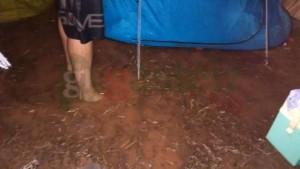 Así se encontraba el Camping de La Malvarrosa esta madrugada @lidiaCDGasteiz