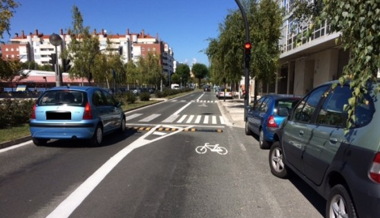 carril bici calle donostia