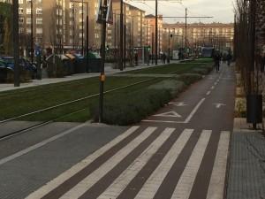 Avenida carril bici ciclistas