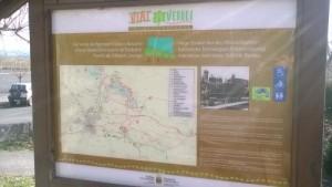 Cartel ubicado en Estibaliz