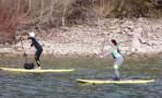VÍDEO: Travesía 'pingüinos' de Paddle Surf por el embalse