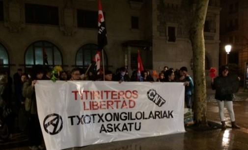 Vitoria-Gasteiz acoge una concentración de apoyo a los tiriteros encarcelados