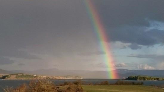 Arco Iris este domingo en Landa. Foto: Ainhoa Fuentes