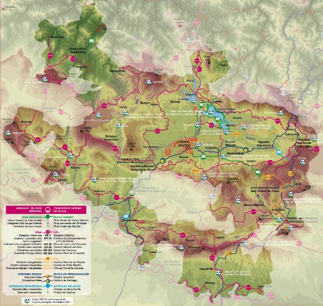 mapa itinerario verde