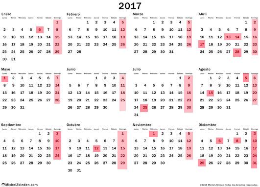 As ser el calendario laboral de 2017 for Calendario laboral leganes 2017