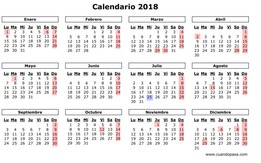 As 237 Ser 225 El Calendario Laboral De 2018 Y El De 2019