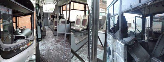 destrozo autobuses