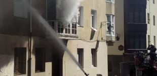 Arde una vivienda en el Casco Viejo