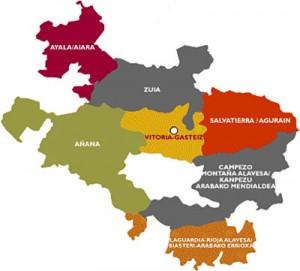 mapa cuadrillas álava