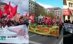 Varias manifestaciones defienden los derechos de los Trabajadores