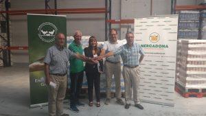 Firma del convenio entre Mercadona y la Federación de Bancos de Alimentos de Euskadi